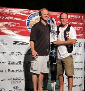 Kyle Tate and Bill Yeargin, President and CEO of Nautique